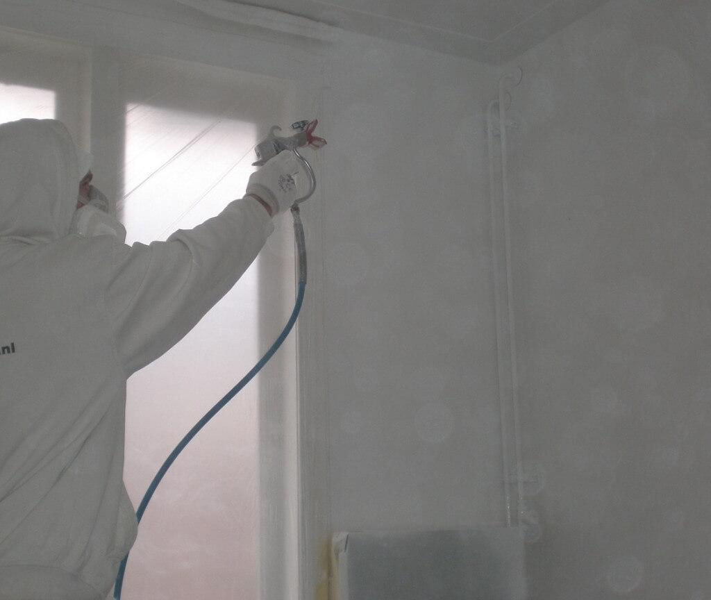 Muren verven of spuiten prijzen per m2 weten for Kostprijs behangen per m2